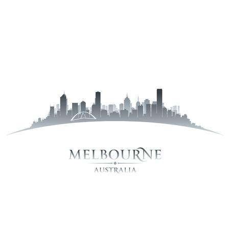 melbourne: Melbourne Australia city skyline silhouette. Vector illustration Illustration