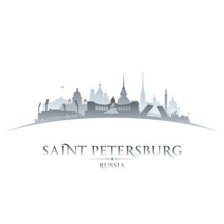 Saint Petersburg Russia city skyline silhouette. Vector illustration Stock Vector - 24510298