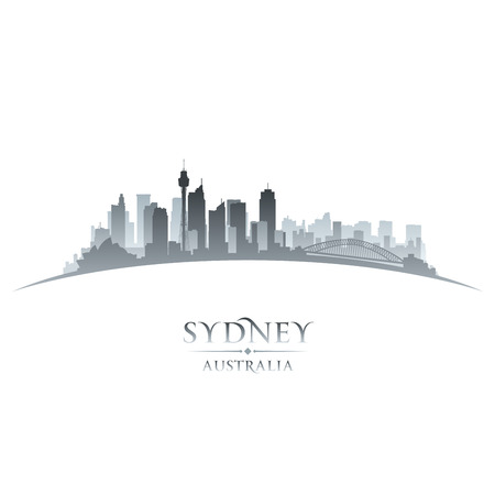 Sydney Australia city skyline silhouette. Vector illustration
