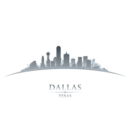 Dallas Texas city skyline silhouette. Vector illustration Stock Vector - 24510423