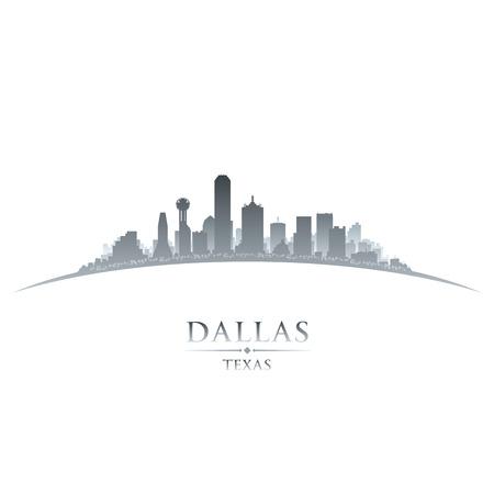 scraper: Dallas Texas city skyline silhouette. Vector illustration