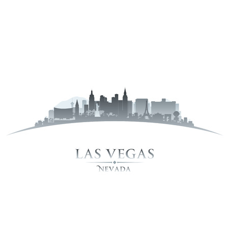 Las Vegas Nevada city skyline silhouette. Vector illustration Stock Vector - 24510424