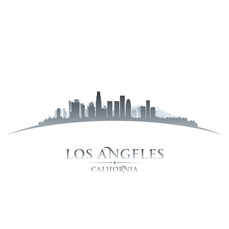 los angeles: Los Angeles, Kalifornien, die Skyline der Stadt-Silhouette. Vektor-Illustration