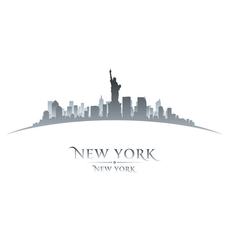 New York city skyline silhouette. Vector illustration Vector