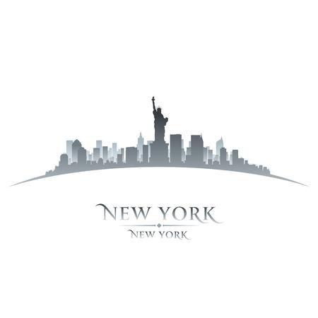ilustracion: Nueva York Horizonte de la silueta de la ciudad. Ilustración vectorial