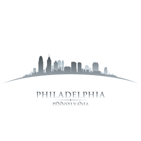 Philadelphia Pennsylvania city skyline silhouette. Vector illustration