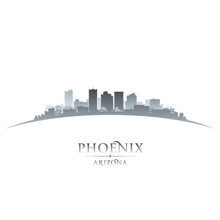 phoenix arizona: Phoenix Arizona city skyline silhouette. Vector illustration