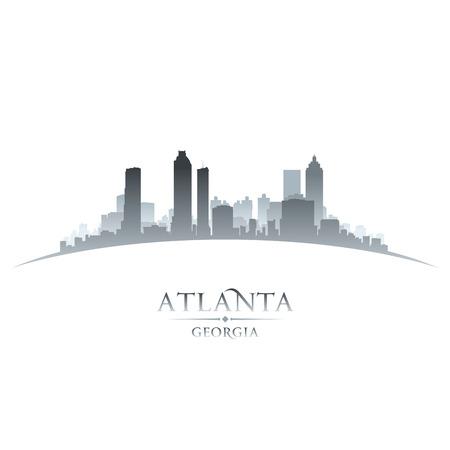 ジョージア州アトランタ市のスカイラインのシルエット。ベクトル イラスト  イラスト・ベクター素材