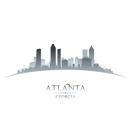 atlanta: Atlanta Georgia city skyline silhouette. Vector illustration