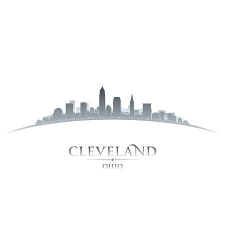Cleveland Ohio skyline silhouet. Vector illustratie Stock Illustratie