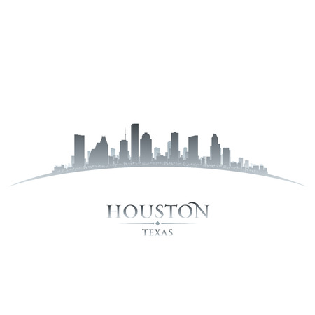 houston: Houston Texas city skyline silhouette. Vector illustration
