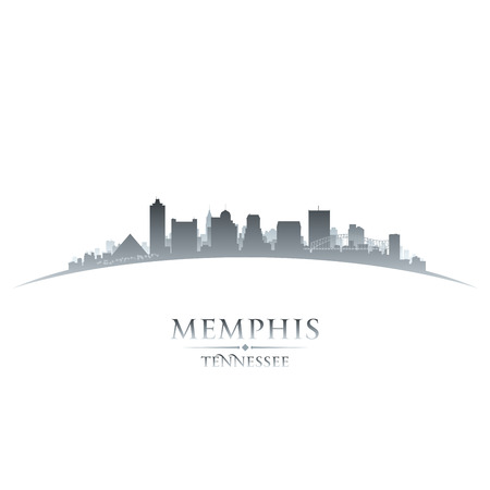 tennessee: Memphis Tennessee city skyline silhouette. Vector illustration