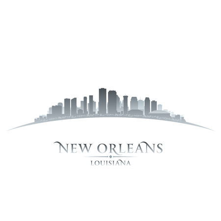 New Orleans Louisiana city skyline silhouette. Vector illustration Vector