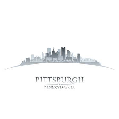 Pittsburgh Pennsylvania city skyline silhouette. Vector illustration Ilustração