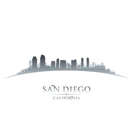 San Diego California city skyline silhouette. Vector illustration Фото со стока - 24680170