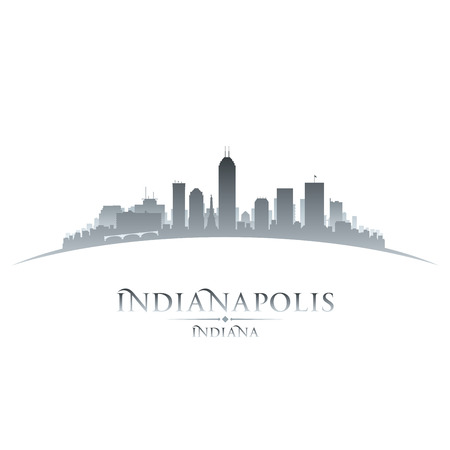 Indianapolis Indiana city skyline silhouette. Vector illustration Vettoriali