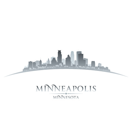 Minneapolis Minnesota city skyline silhouette. Vector illustration Ilustração