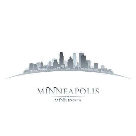 Minneapolis Minnesota stad skyline silhouet. Vector illustratie