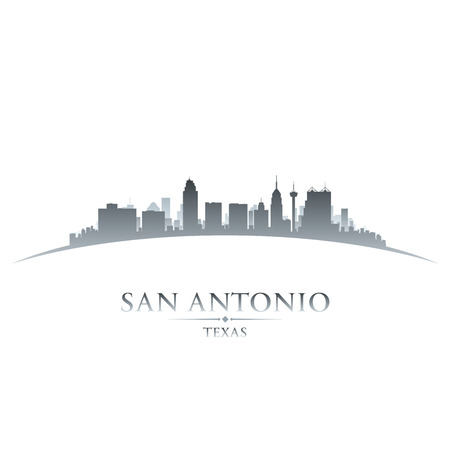 scraper: San Antonio Texas city skyline silhouette. Vector illustration