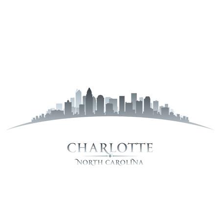 ciudad: Carolina del Norte Charlotte ciudad silueta. Ilustración vectorial