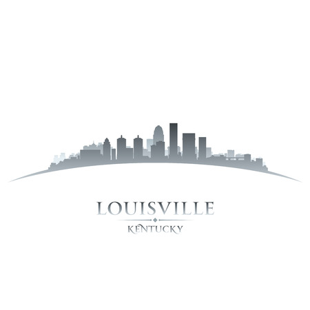 Louisville Kentucky city skyline silhouette. Vector illustration Ilustracja
