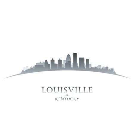 Louisville Kentucky skyline silhouet. Vector illustratie Stock Illustratie