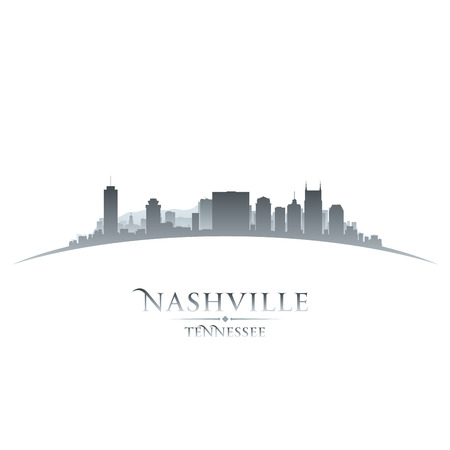 Nashville Tennessee city skyline silhouette. Vector illustration  イラスト・ベクター素材