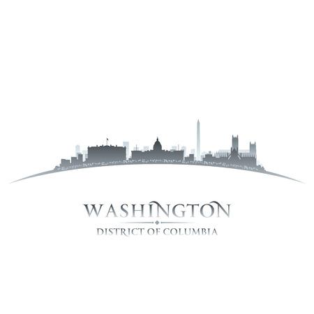 Washington DC stad skyline silhouet. Vector illustratie