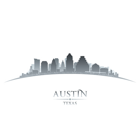 Austin Texas city skyline silhouette. Vector illustration Ilustracja