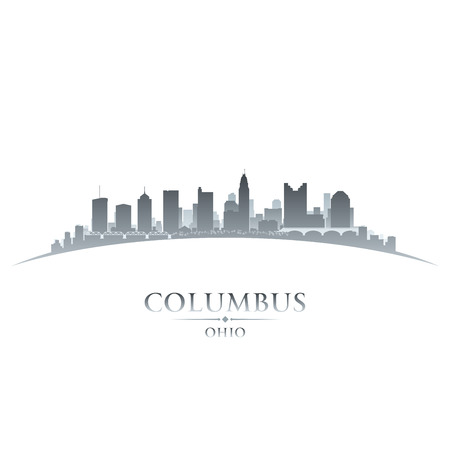 ohio: Columbus Ohio city skyline silhouette. Vector illustration Illustration