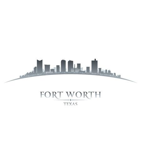 fort: Fort Worth Texas city skyline silhouette. Vector illustration