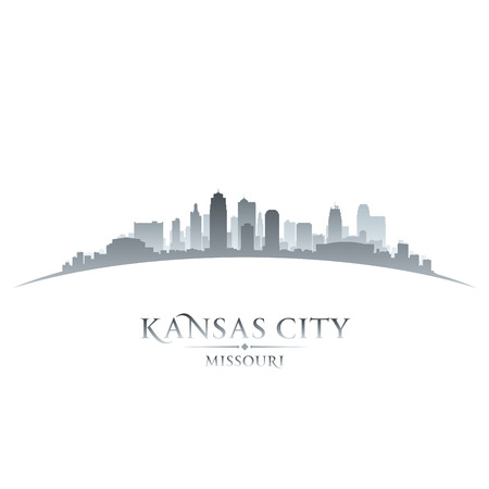 Kansas city Missouri skyline silhouette. Vector illustration Vector