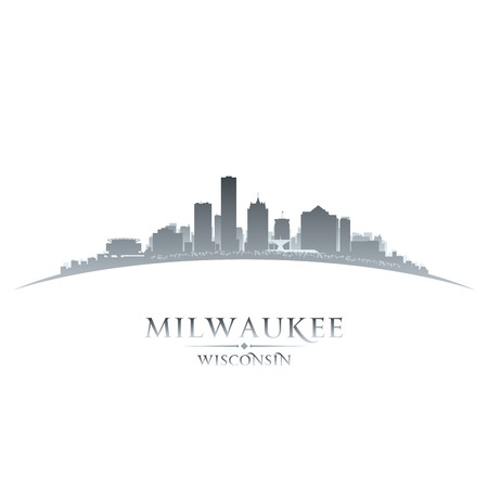 Milwaukee Wisconsin city skyline silhouette. Vector illustration Vector