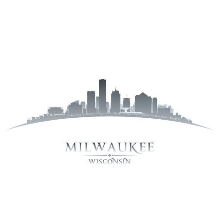 Milwaukee Wisconsin city skyline silhouette. Vector illustration Stock Illustratie