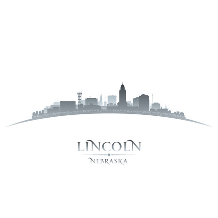 lincoln: Lincoln Nebraska city skyline silhouette. Vector illustration