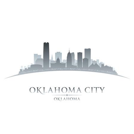 Oklahoma City skyline silhouet. Vector illustratie Stock Illustratie