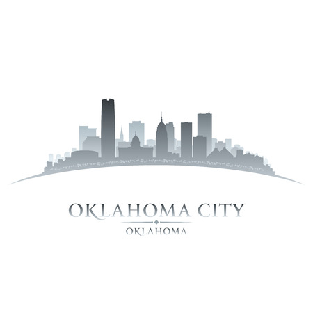 Oklahoma city skyline silhouette. Vector illustration Ilustracja