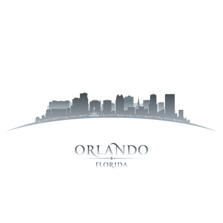orlando: Orlando city skyline silhouette. Vector illustration
