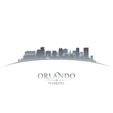 Orlando stad skyline silhouet. Vector illustratie Stock Illustratie