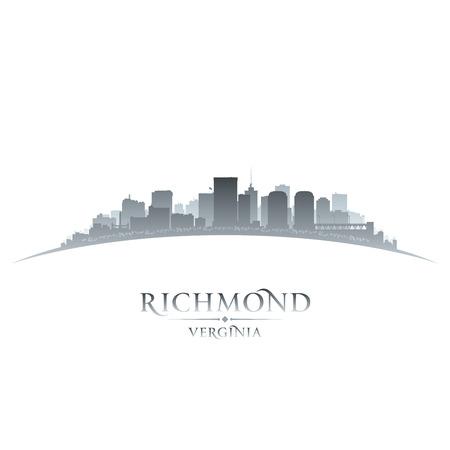 virginia: Richmond Virginia city skyline silhouette. Vector illustration