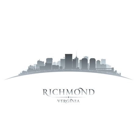 virginia: Richmond Virginia city skyline silhouette. Vector illustration