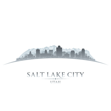 city square: Salt Lake city Utah skyline silhouette. Vector illustration