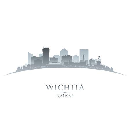 ウィチタ カンザスの都市のスカイラインのシルエット。ベクトル イラスト 写真素材 - 24751126