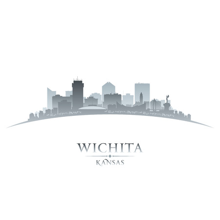 Wichita Kansas city skyline silhouette. Vector illustration Ilustracja