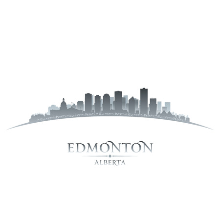 edmonton: Edmonton Alberta Canada city skyline silhouette  Vector illustration