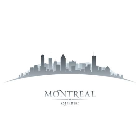 Montreal Quebec Canada city skyline silhouette  Vector illustration 일러스트