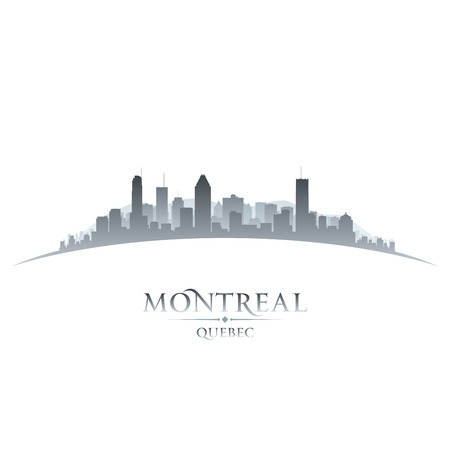 quebec: Montreal Quebec Canada city skyline silhouette  Vector illustration Illustration