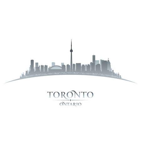 Toronto Ontario Canada city skyline silhouette  Vector illustration