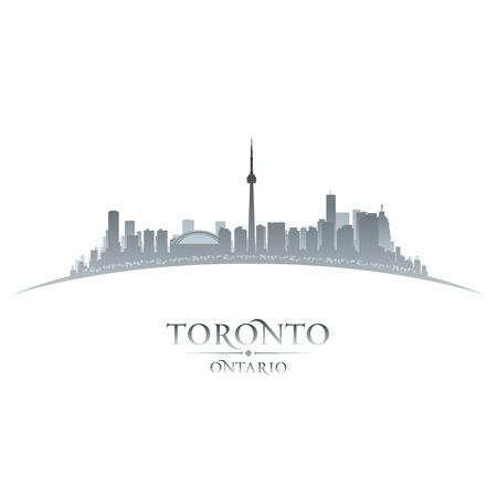 ontario: Toronto, Ontario Canada skyline della citt� silhouette illustrazione vettoriale Vettoriali