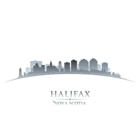 Halifax Nova Scotia Canada city skyline silhouette  Vector illustration